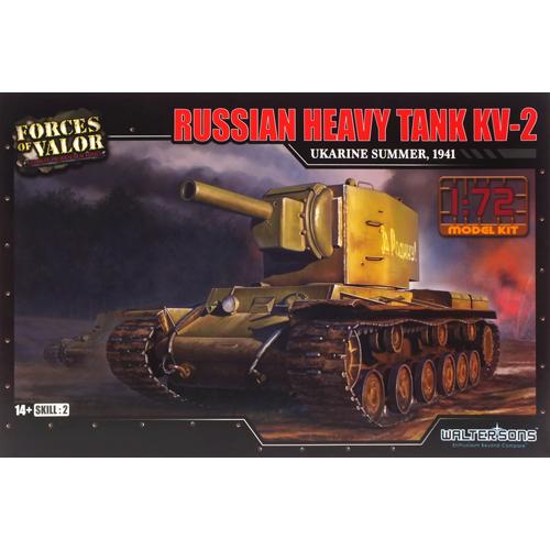 레프리카 프라모델 1/72 러시아 헤비탱크 KV-2 우크라이나 1941 프라모델 WTS101575KIT, 1개