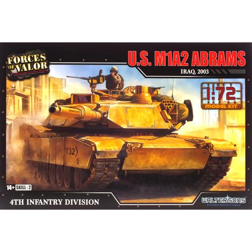 레프리카 프라모델 1/72 U S M1A2 에이브람스 전차 프라모델 WTS101599KIT, 1개