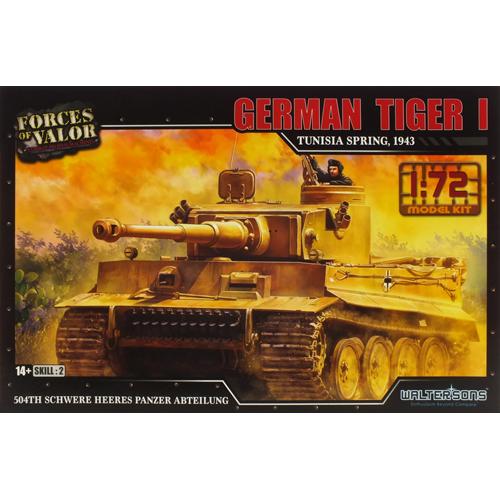 레프리카 프라모델 1/72 독일 타이거1 전차 튀니지 1943 프라모델 WTS101551KIT, 1개