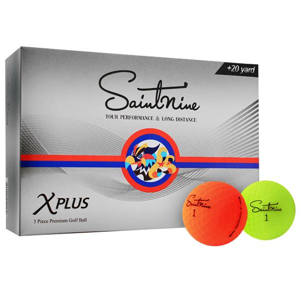 넥센 2020 세인트나인 X 플러스 골프공 3피스 42.67mm 6p, 무광 컬러(랜덤 발송), 1세트