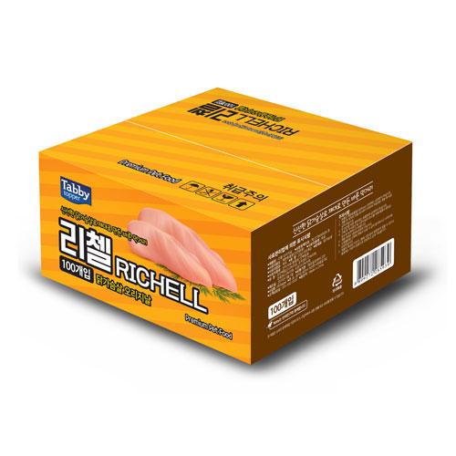 테비 리첼 오리지날 반려동물 닭가슴살간식 22g, 닭가슴살, 100개