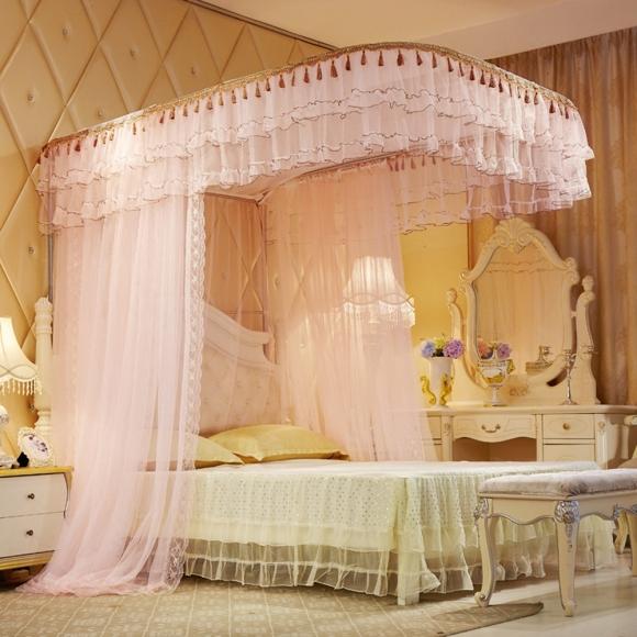 트리 스위트룸 레일형 침대모기장, 연핑크