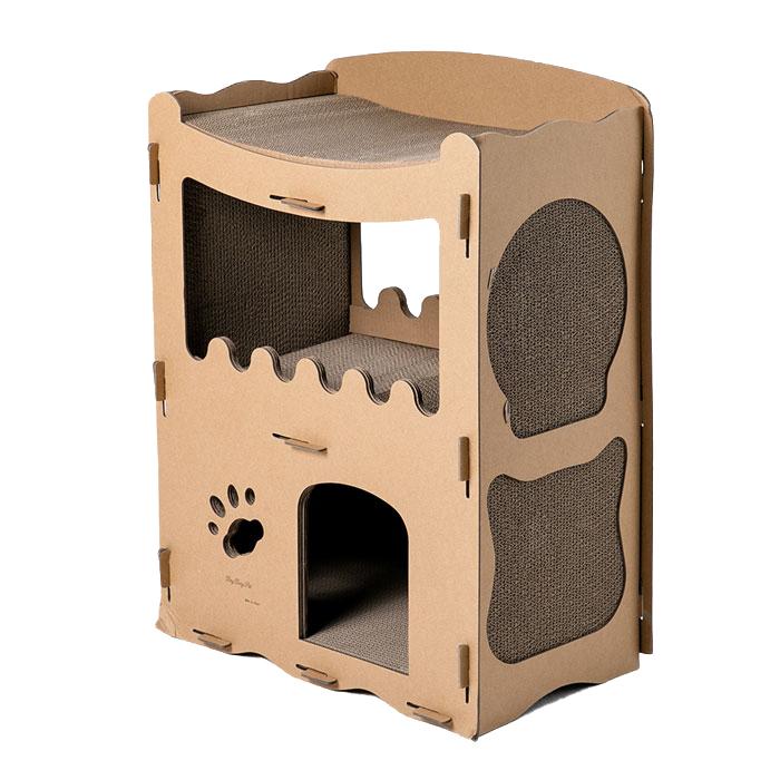 딩동펫 고양이 스크래쳐 하우스 복층형, 1개