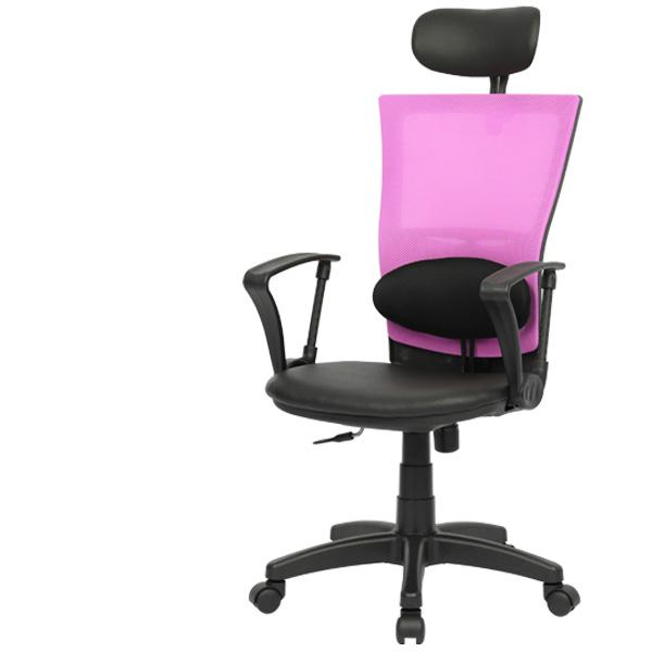 [체어포커스] 쾌적 시원한 망사 메쉬의자 씽크체어 T4, 메쉬-핑크