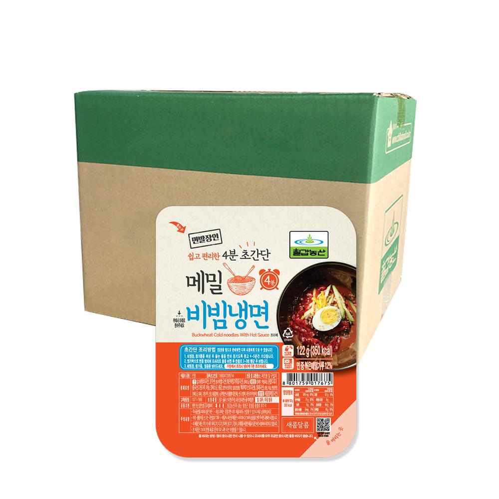 칠갑농산 메밀비빔냉면, 122g, 18개