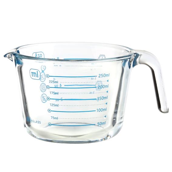 수퍼오븐글라스 유리 계량컵, 블루, 250ml