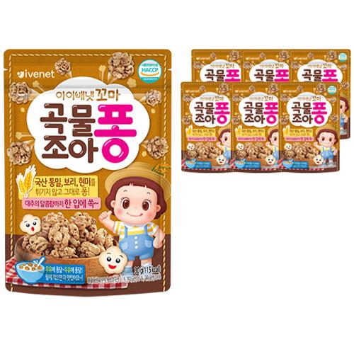 아이배냇 꼬마 곡물조아퐁 과자 30g, 통밀, 7개