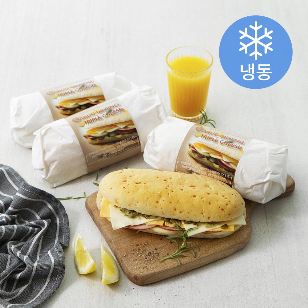 테이트 갈릭딥핑 트리플치즈 치아바타 (냉동), 205g, 3개