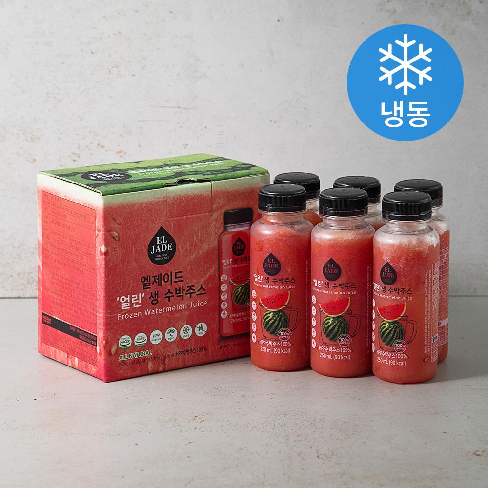 [수박] 엘제이드 얼린 생 수박주스 6개입 (냉동), 1500ml, 1개 - 랭킹26위 (17400원)