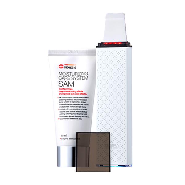 제스파 로아벨 아쿠아 LED 갈바닉 워터필링기 + 제네시스 샘 수분크림 60ml, 필링기(L6), 그레이