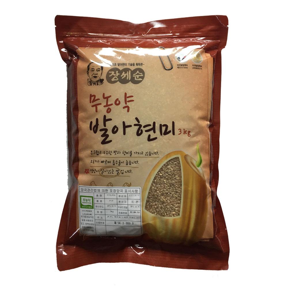 장세순 무농약 발아현미, 3kg, 1개
