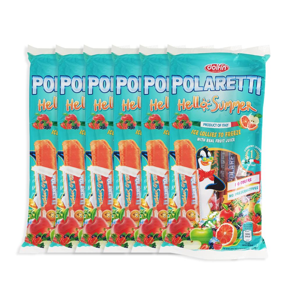돌핀 폴라레티 아이스크림 헬로썸머 10p, 400ml, 6개