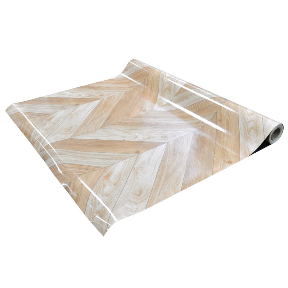 데코리아 재사용이 가능한 무점착 원목무늬목 바닥용 시트지, 라인패널 해링본 777
