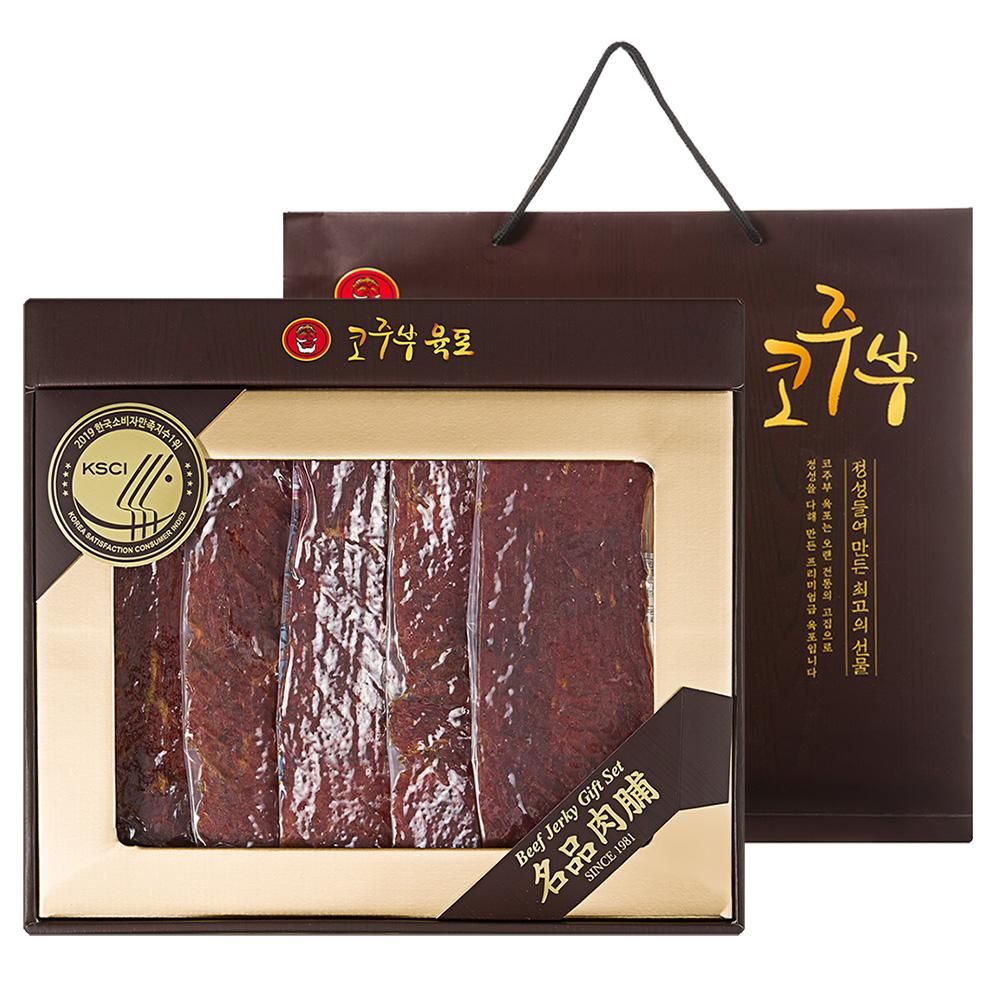 코주부 프리미엄 육포 선물세트 + 쇼핑백, 250g, 1세트
