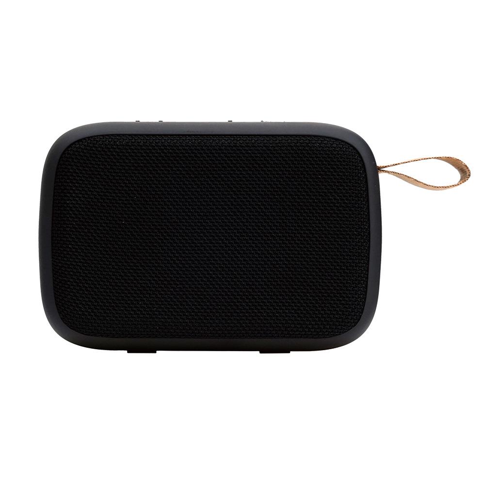 로이체 컴팩트 듀얼드라이브 휴대용 블루투스 스피커, BTS-240, 블랙