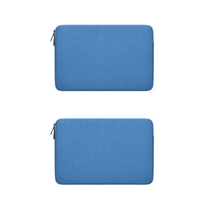 윰플 소프트 베이직지퍼 심플무지파우치 2p, 블루