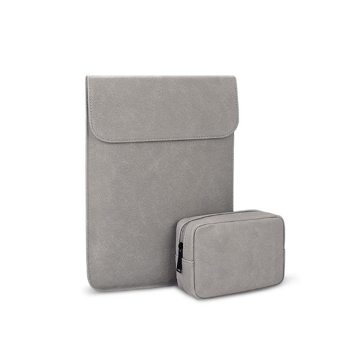 윰플 마그네틱 생활방수 노트북파우치 + 보조가방, 그레이