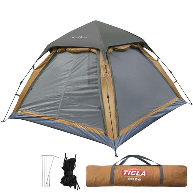 빈슨메시프 티클라 원터치 컴포트 텐트, 브라운, 5인용