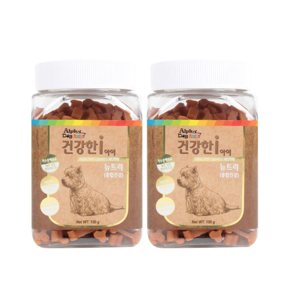 알파독 건강한아이 뉴트리 반려동물 종합건강 영양제 150g, 쌀가루, 2개