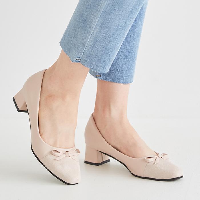하루반 디아망 여성 미들힐 구두 5cm