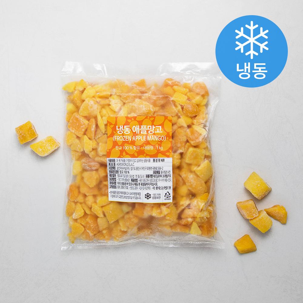 애플망고 피스 앤 바이츠 (냉동), 1kg, 1개