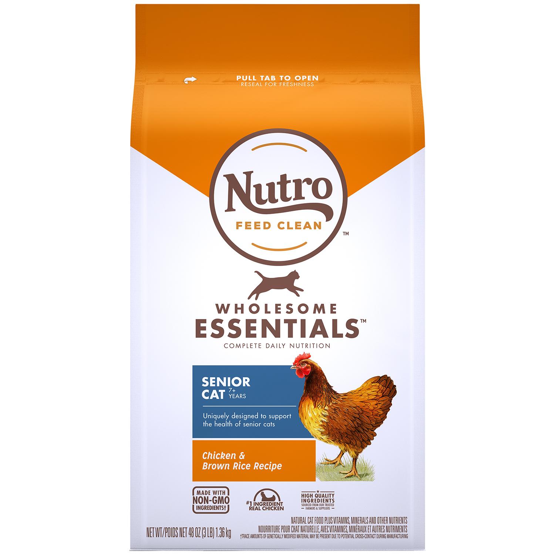 뉴트로 캣 7세이상 실내묘용 닭고기와 현미 사료, 2.27kg, 1개