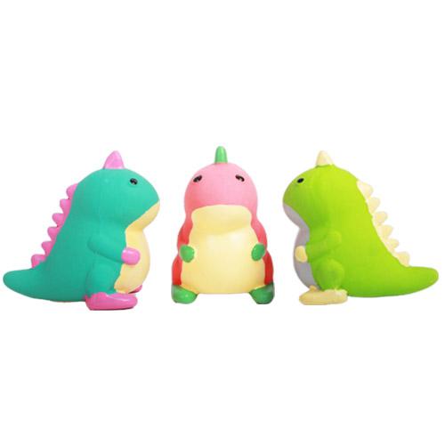 티티펫 강아지 라텍스 장난감 아기공룡 3종 세트 4 x 6 x 5.5 cm, 핑크, 그린, 민트, 1세트