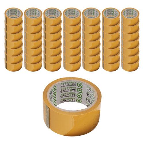 선진 경포장 박스테이프 48mm x 50m, 황색, 50개