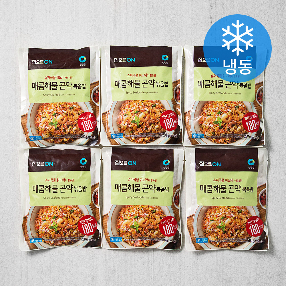 집으로온 매콤 해물 곤약 볶음밥 (냉동), 200g, 6개