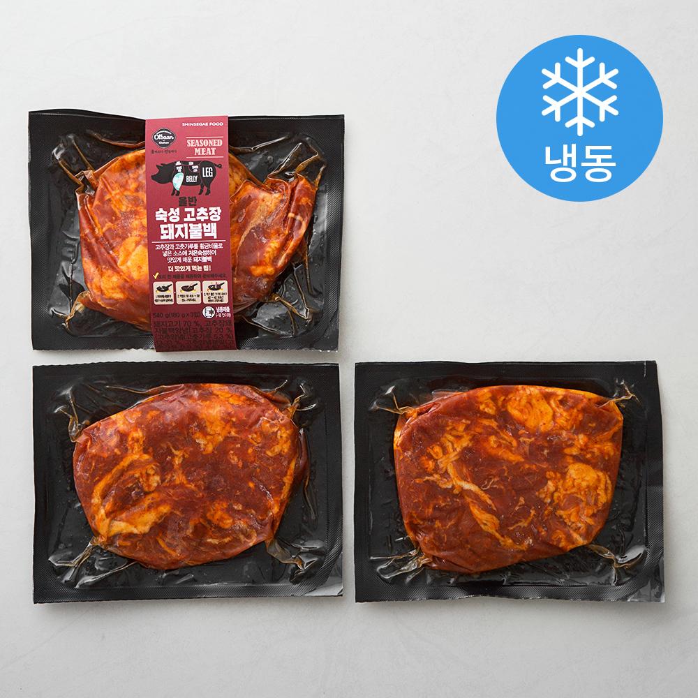 올반 숙성 고추장 돼지불백 (냉동), 180g, 3개