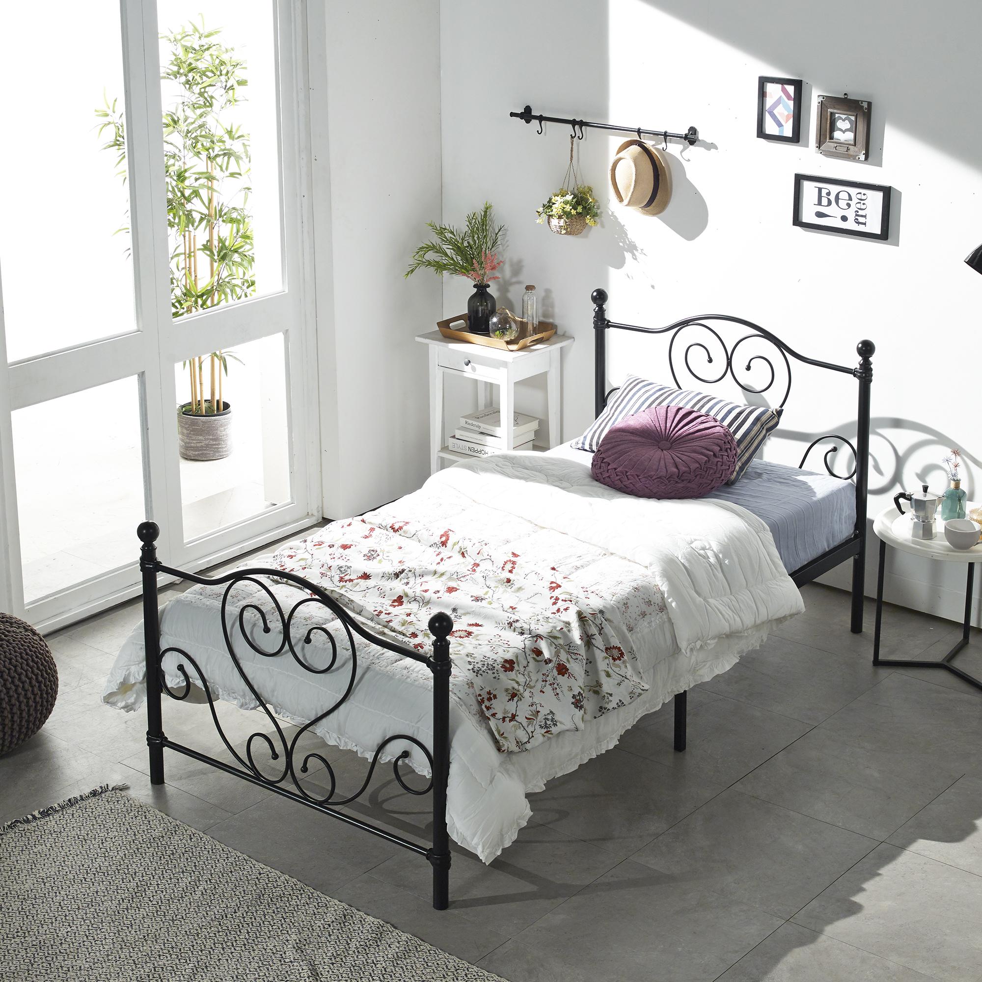 홈페리 에일린 클래식 침대 프레임 단품 블랙