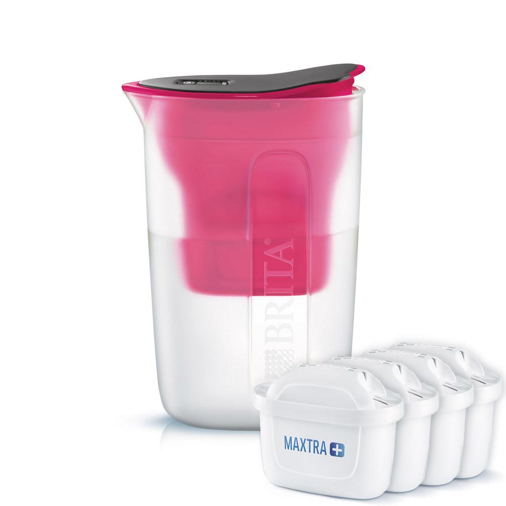 브리타 정수기 펀 핑크 1.5L 필터 포함 + 막스트라 플러스 필터 4p, 단일 상품