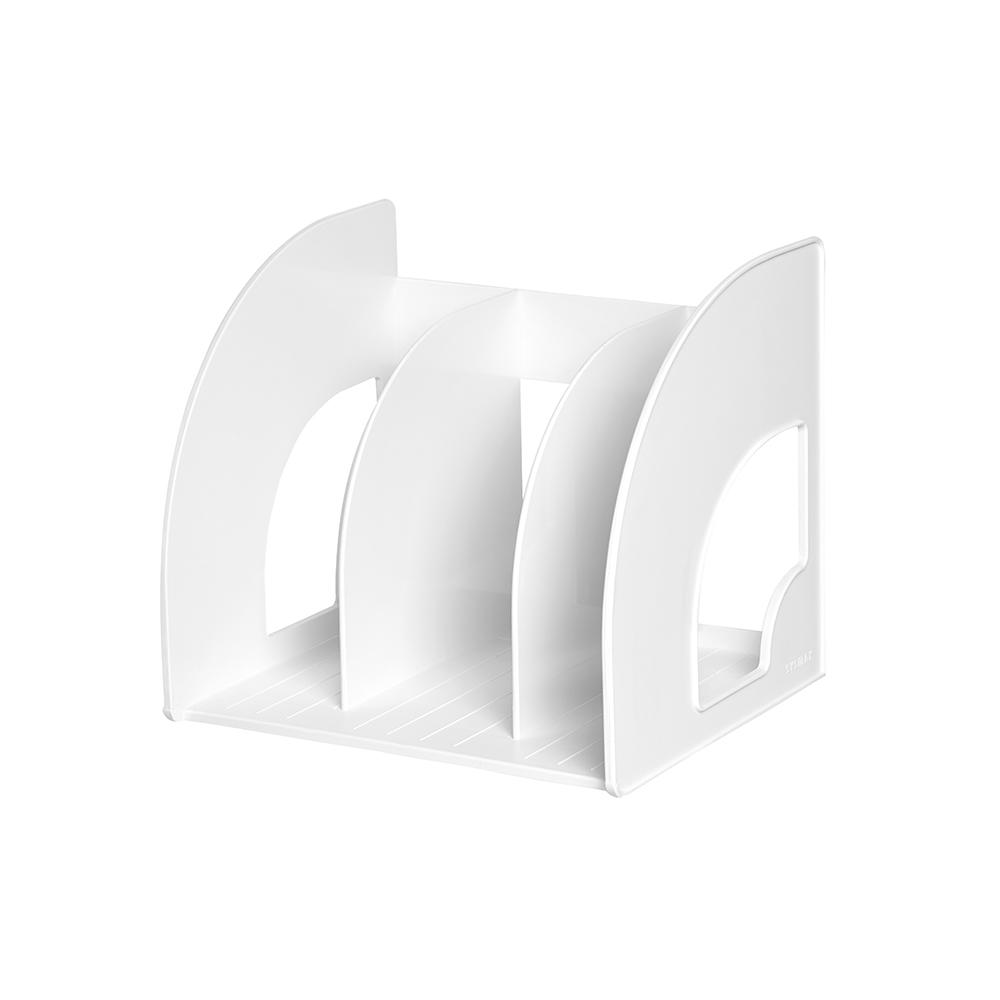 시스맥스 책꽂이 3단, WHITE