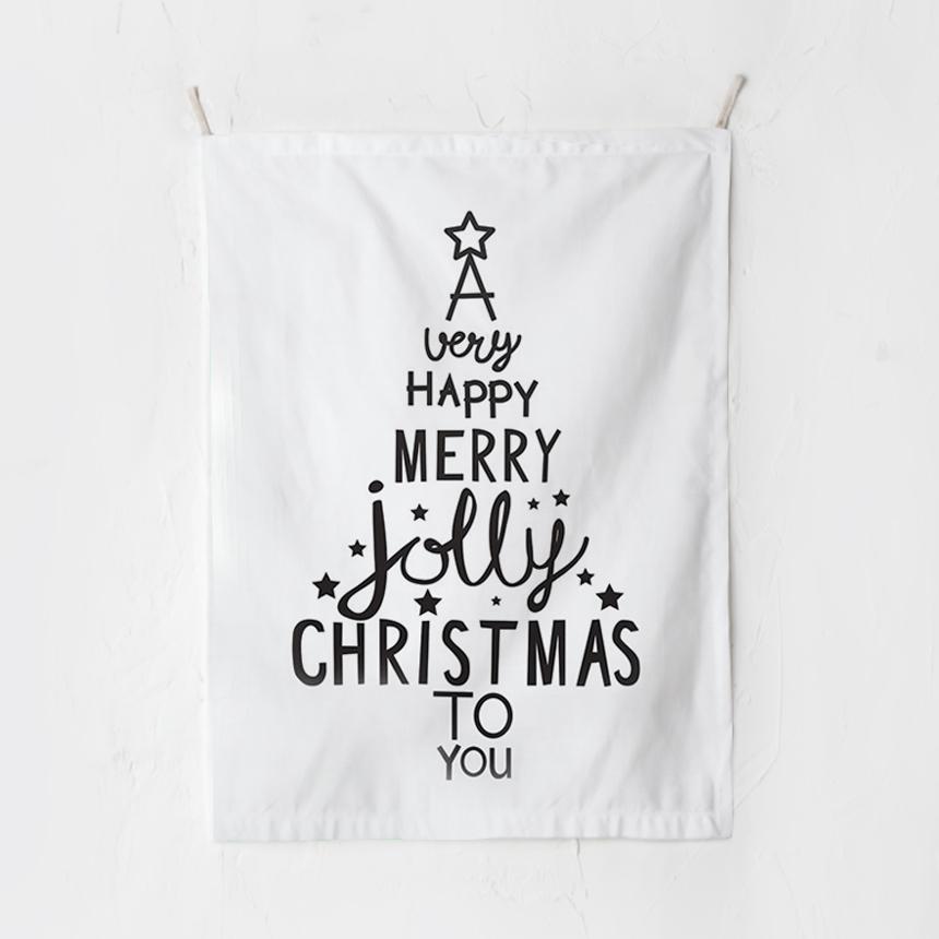 RYMD 크리스마스 태피스트리 타이포 트리, 혼합 색상