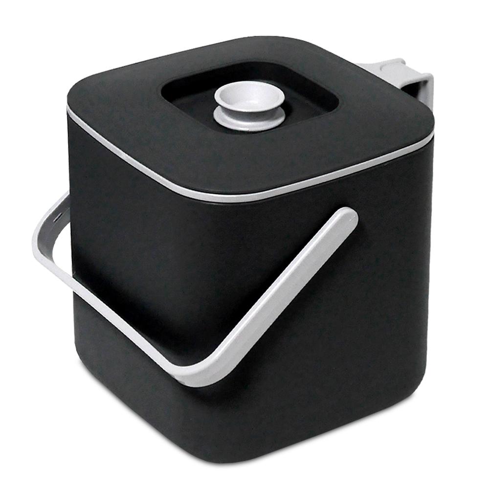 담따 들기편리한 음식물 쓰레기통 3L, 블랙