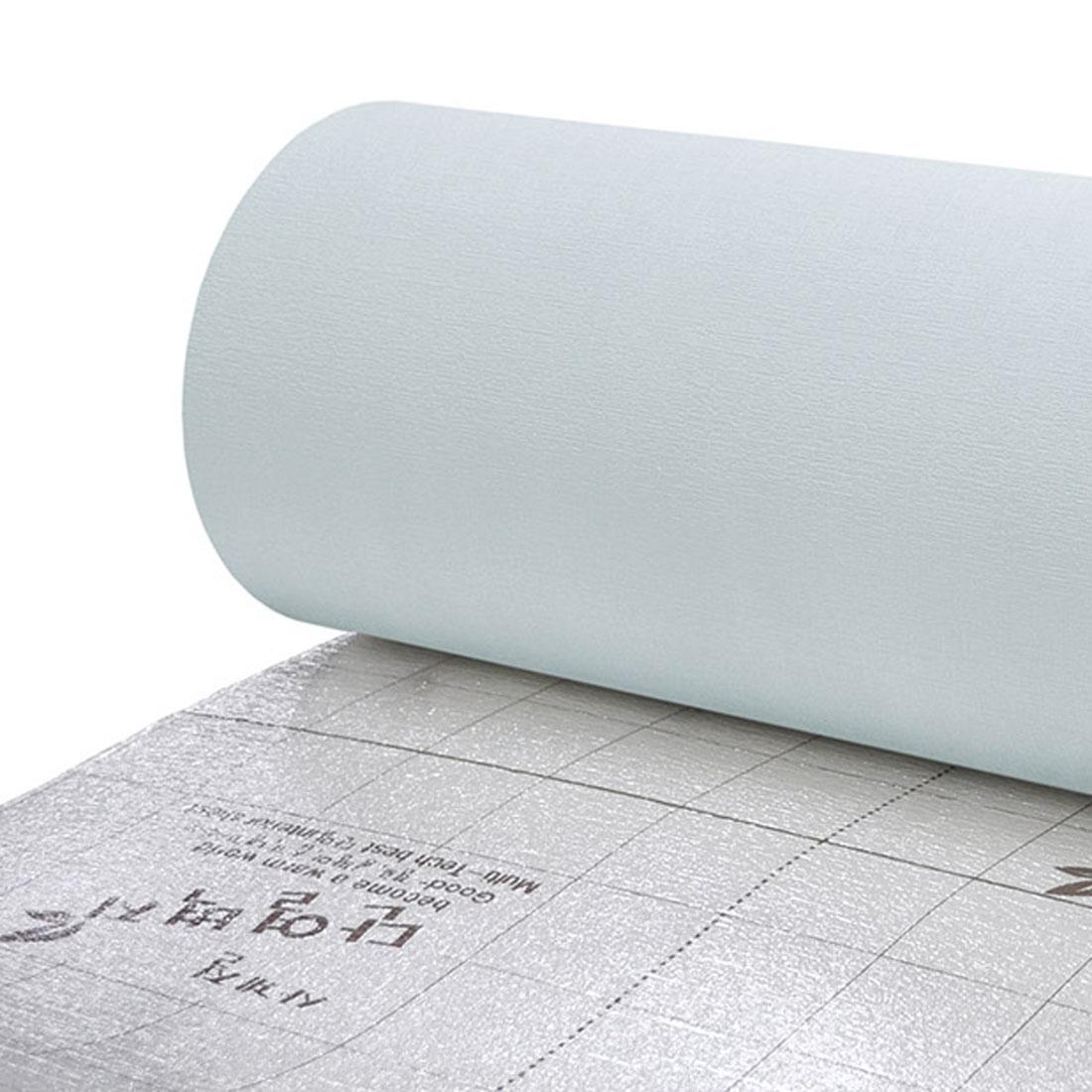 데코리아 생활방수 결로방지 고급형 알루미늄 접착식 단열벽지, 실크청그레이