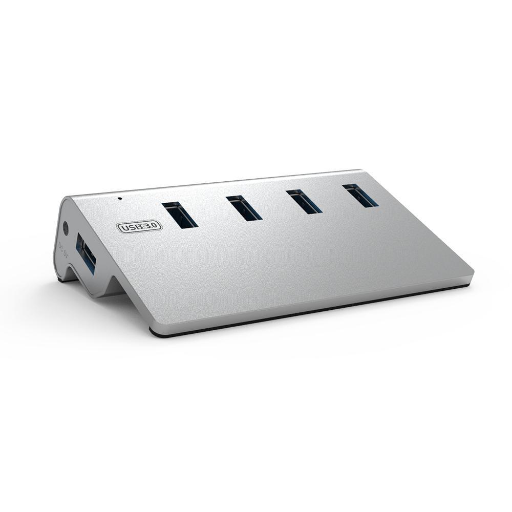 넥스트 이지넷유비쿼터스 USB3.0 알루미늄 4포트 스탠드형 USB허브 NEXT-315UH, 혼합 색상