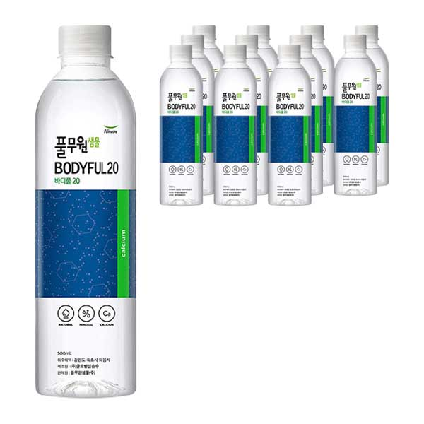 풀무원샘물 바디풀 20 칼슘, 500ml, 12개
