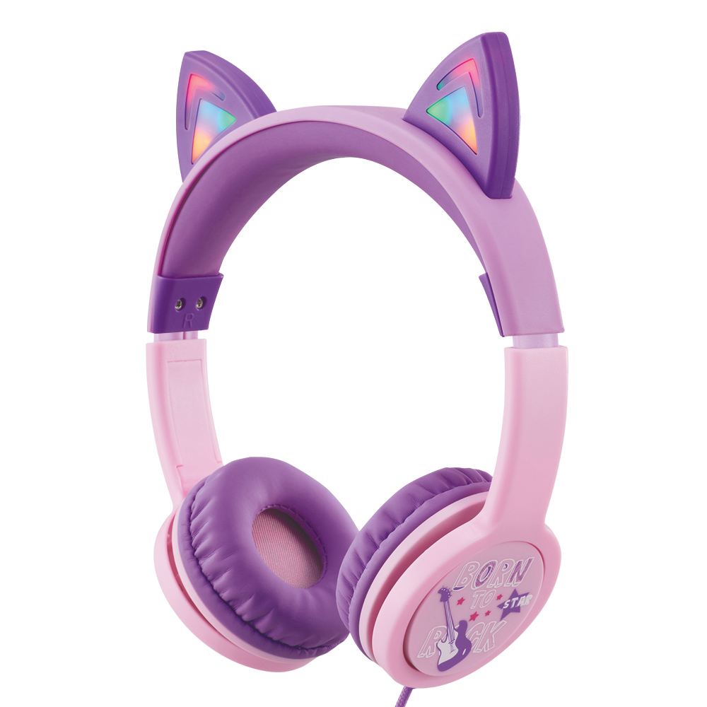 엑토 LED 캣츠 어린이 청력보호 헤드폰, BKS-80