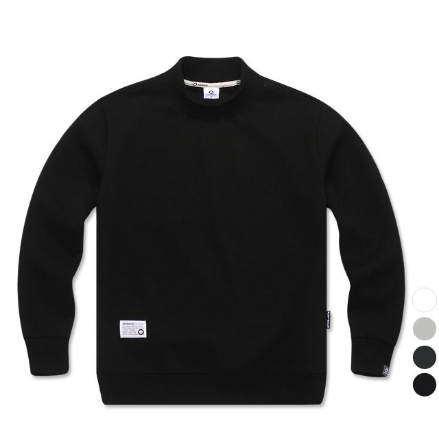 앨빈클로 편안한 무지 반폴라 기모 맨투맨 티셔츠 MAR650