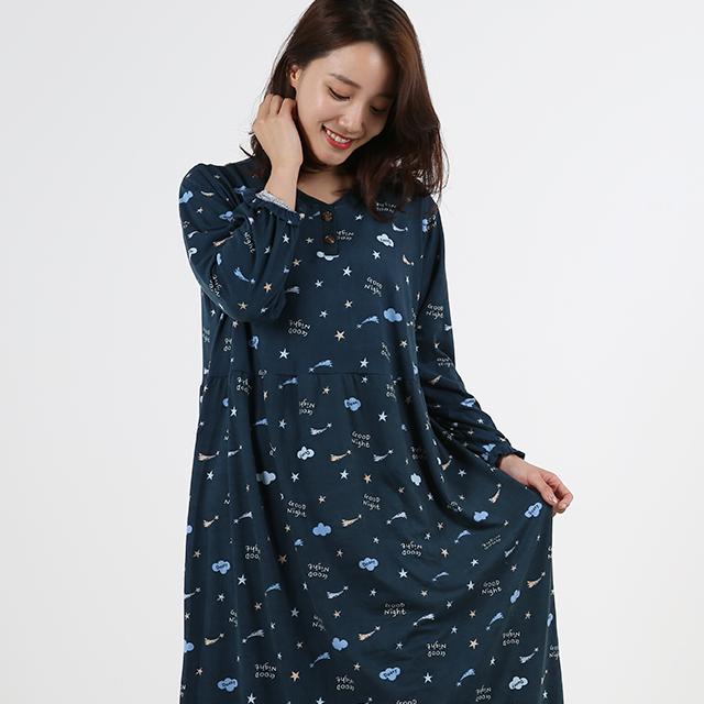 도씨 피치기모 홈웨어 여성잠옷원피스