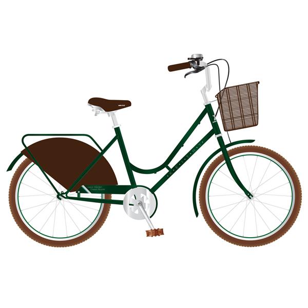 뮤트 7단 그립쉬프터 여성용 자전거 케이티 2607, 그린실버
