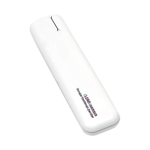 크린챔버 휴대용 칫솔살균기 DK-800, 화이트 + 블루