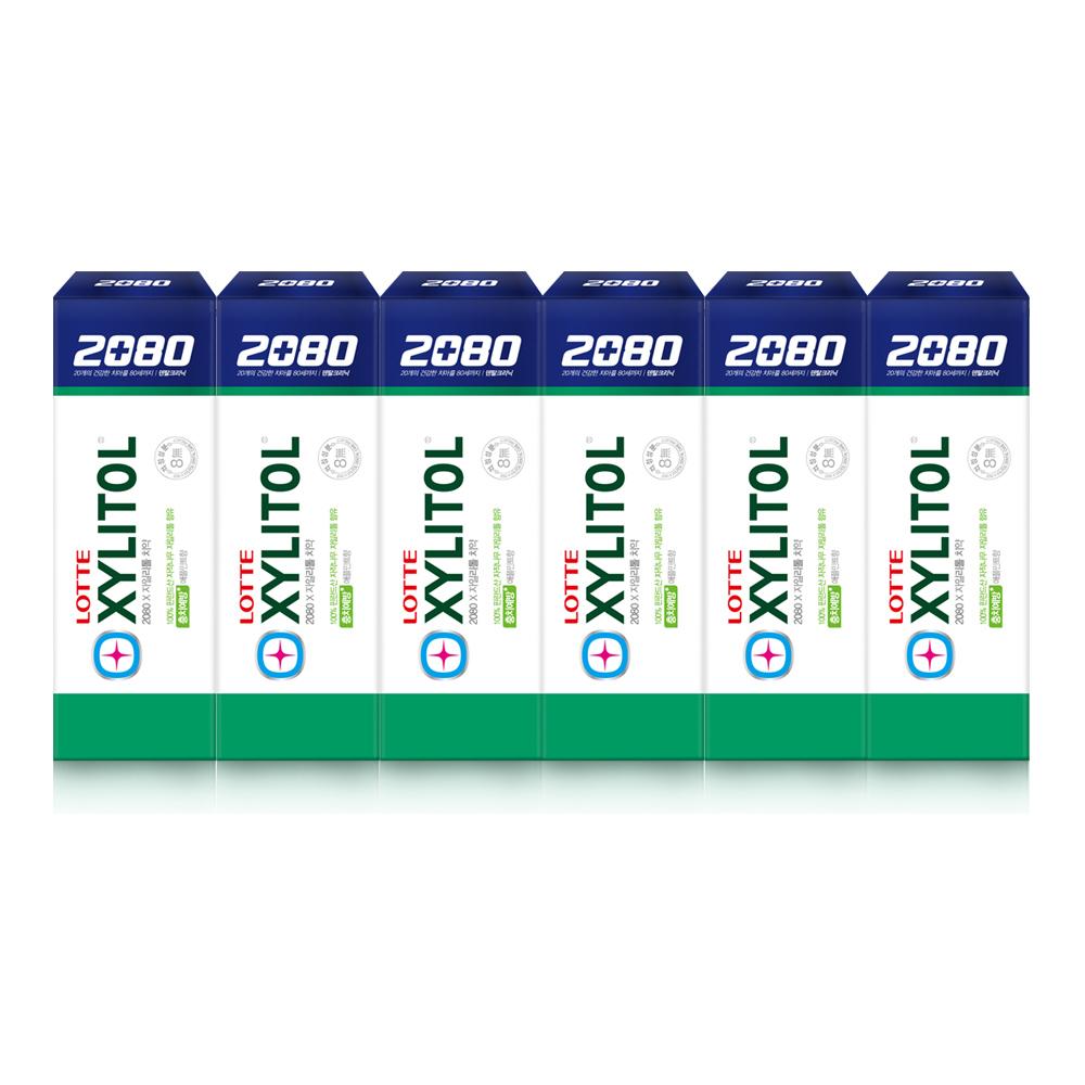 2080 애플민트향 자일리톨 치약, 100g, 6개