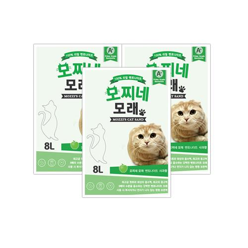 모찌네 고양이 모래 사과향, 8L, 3개