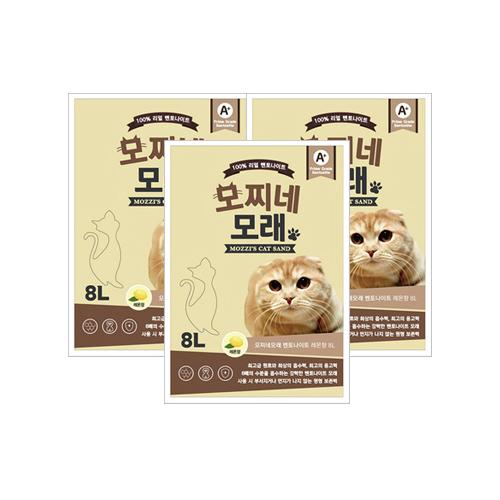 모찌네 고양이 모래 레몬향, 8L, 3개