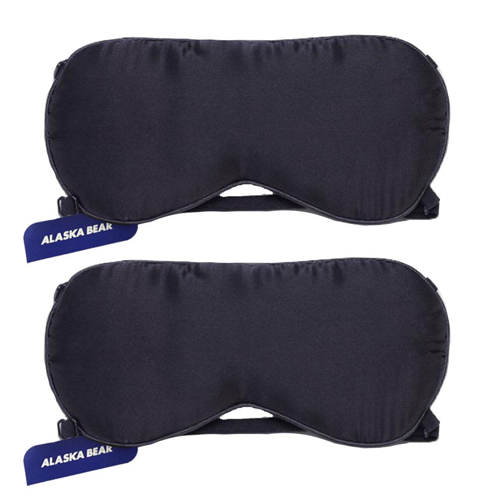 알래스카베어 수면 실크안대 고급형 2p + 휴대용 파우치, 1세트