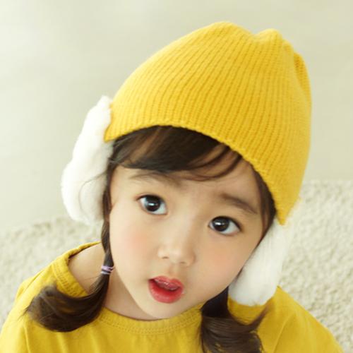 우주아이 아동용 뽀송귀마개 모자