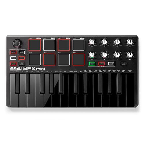 아카이 MPK Mini MK2 블랙 아카이 USB 마스터키보드, 단일 상품