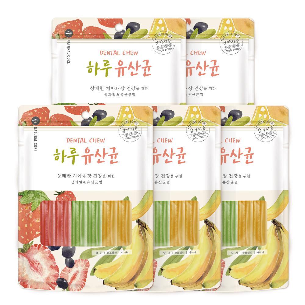네츄럴코어 하루유산균 강아지 간식 혼합형 12p, 딸기 + 바나나 + 클로렐라 혼합맛, 5개
